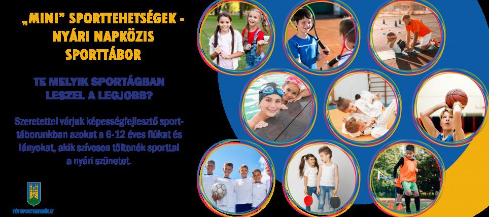"""""""Mini"""" Sporttehetségek –Nyári napközis sporttábor"""